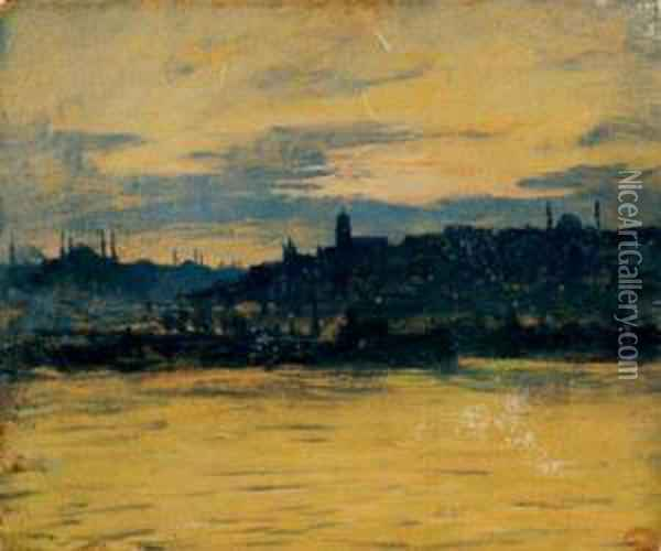 Constantinople La Nuit Oil Painting - Charles Cottet