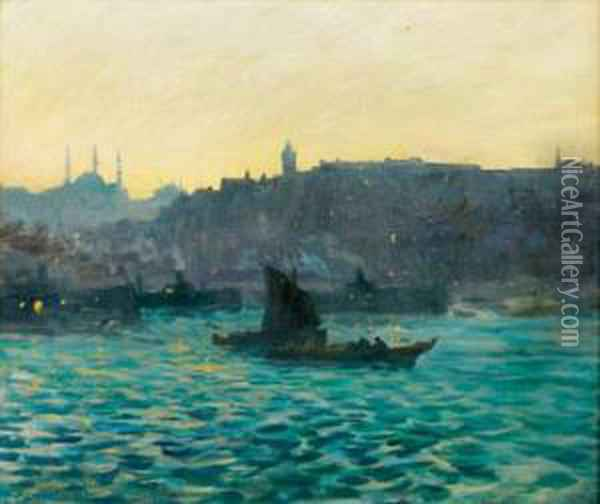 Lumieres Sur Constantinople Oil Painting - Charles Cottet