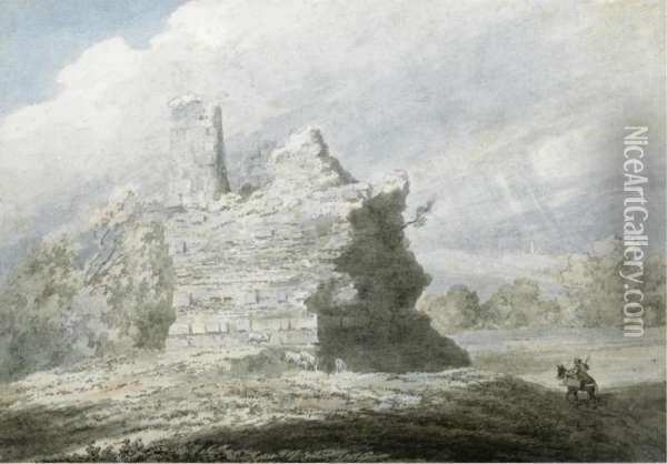 Tomb Of The Horatii And Curatii At Albano Oil Painting - John Robert Cozens