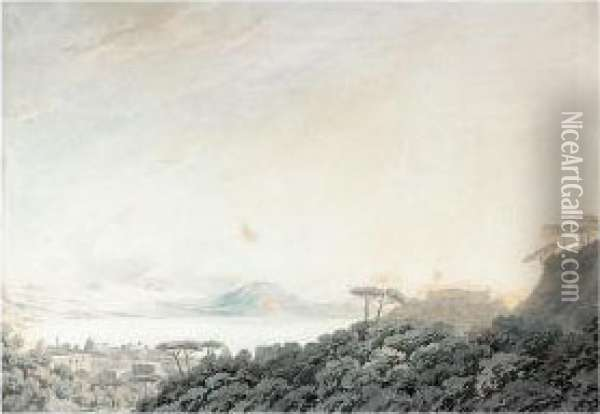 The Bay Of Naples From Capodimonte Oil Painting - John Robert Cozens