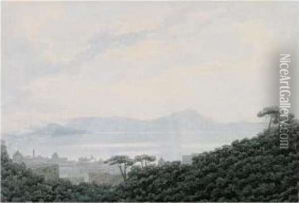 The Bay Of Naples From Capodimonte, Italy Oil Painting - John Robert Cozens