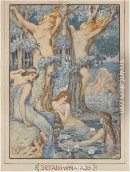 Dryads And Naiads Oil Painting - Walter Crane