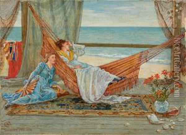 View From The Beach House, Nantucket Oil Painting - Walter Crane