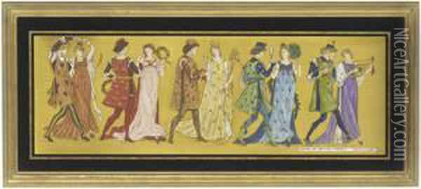 Untitled Oil Painting - Walter Crane