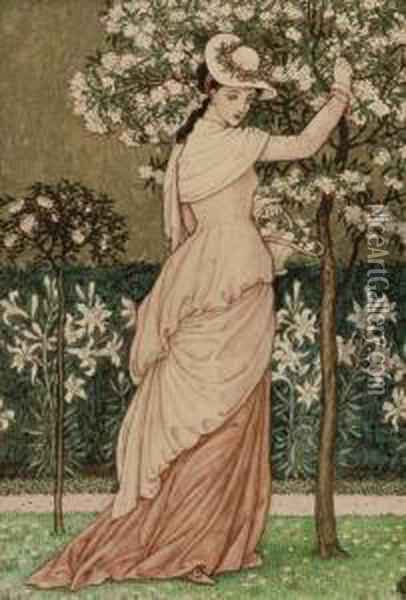 The Union Of Love Oil Painting - Walter Crane