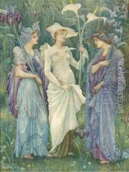 Ensigns Of Spring Oil Painting - Walter Crane