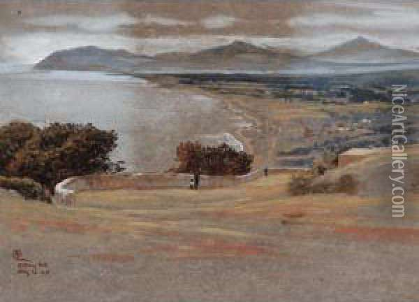 Killiney Hill, Ireland Oil Painting - Walter Crane