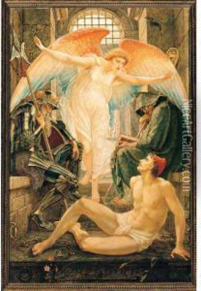 Freedom Oil Painting - Walter Crane