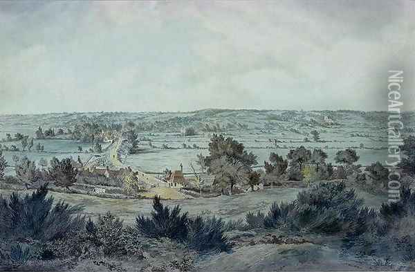 The Valley of the Stour, with Stratford St.Mary in the distance Oil Painting - John Constable