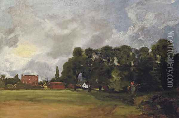 View of East Bergholt House Oil Painting - John Constable