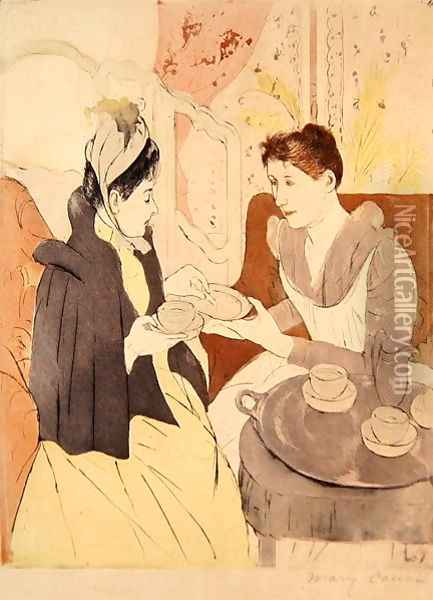 Afternoon Tea Party Oil Painting - Mary Cassatt
