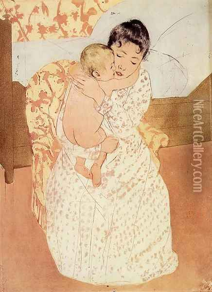 Nude Child Oil Painting - Mary Cassatt