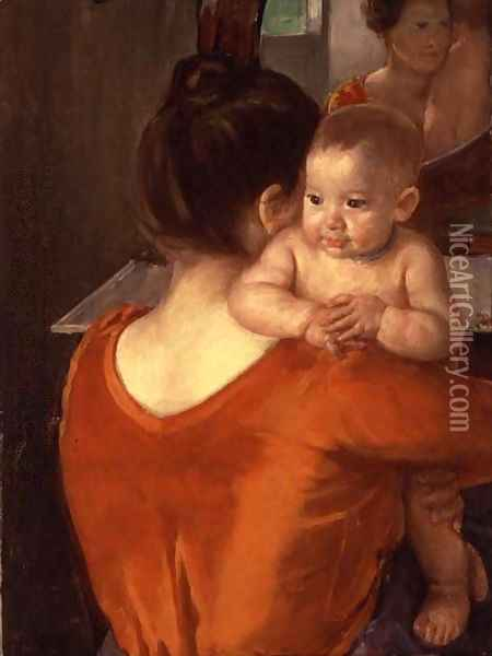 Mother and Child, 1900 Oil Painting - Mary Cassatt