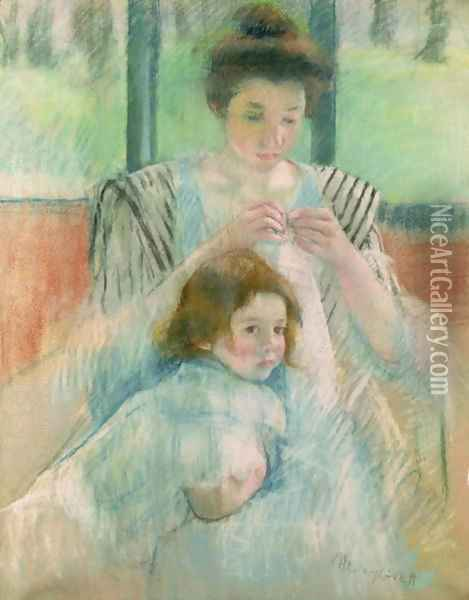 Mother and child 2 Oil Painting - Mary Cassatt