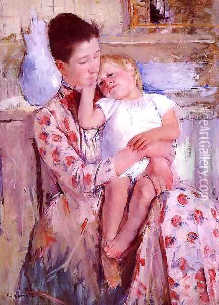 Emmie And Her Child Oil Painting - Mary Cassatt
