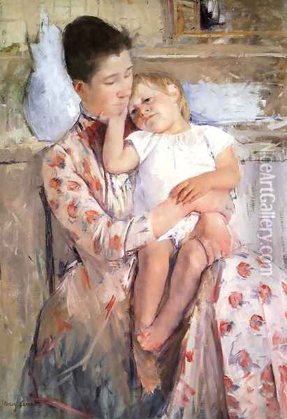 Mother And Child XI Oil Painting - Mary Cassatt