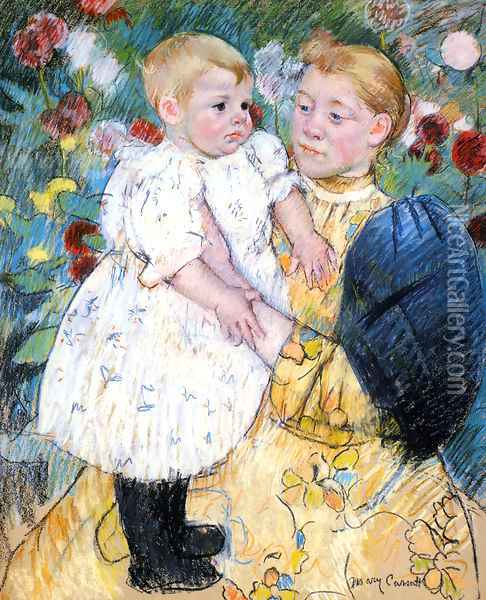 In The Garden Oil Painting - Mary Cassatt