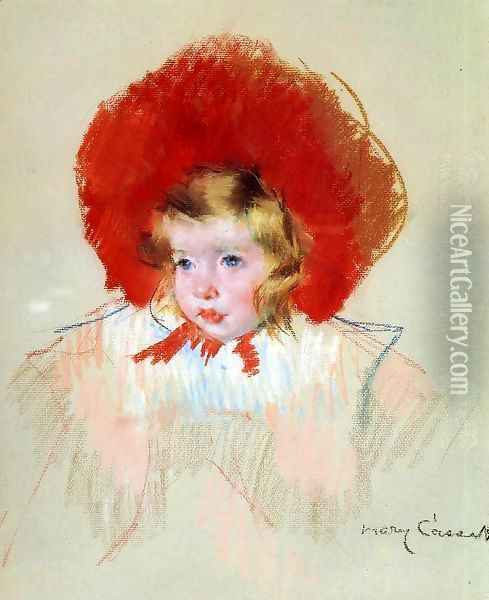 Child with a Red Hat Oil Painting - Mary Cassatt