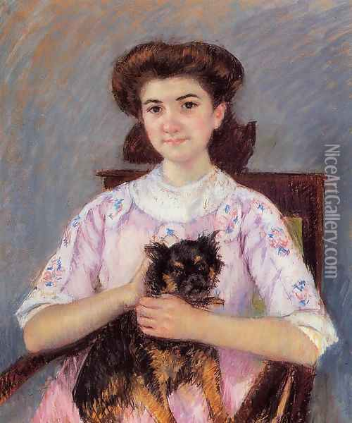 Portrait Of Marie Louise Durand Ruel Oil Painting - Mary Cassatt