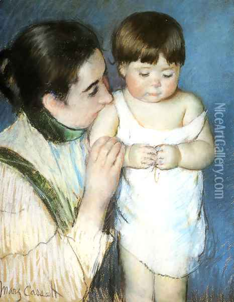 Young Thomas And His Mother Oil Painting - Mary Cassatt