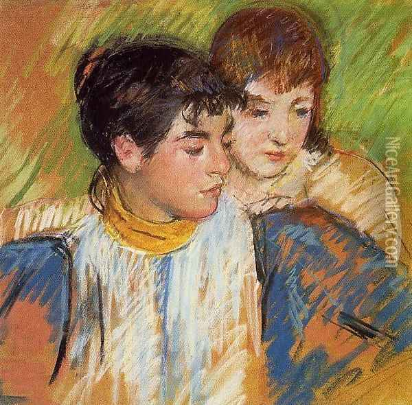 The Two Sisters Oil Painting - Mary Cassatt