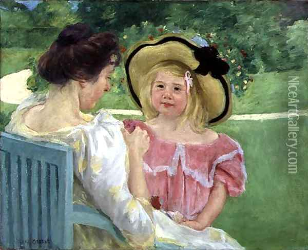 In the Garden, 1904 Oil Painting - Mary Cassatt