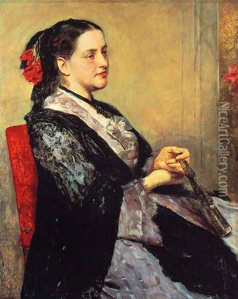 Portrait Of A Lady Of Seville Oil Painting - Mary Cassatt