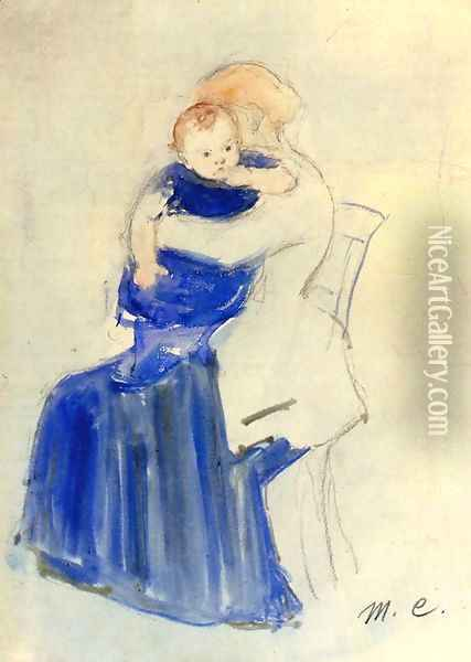 Mother And Child5 Oil Painting - Mary Cassatt