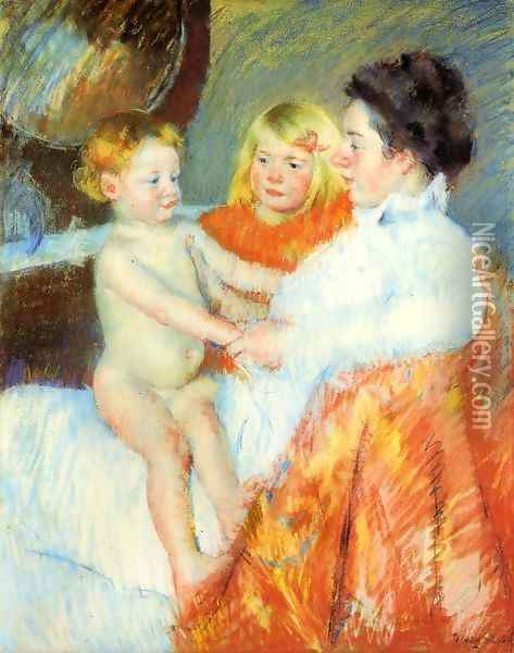 Mother Sara And The Baby Oil Painting - Mary Cassatt