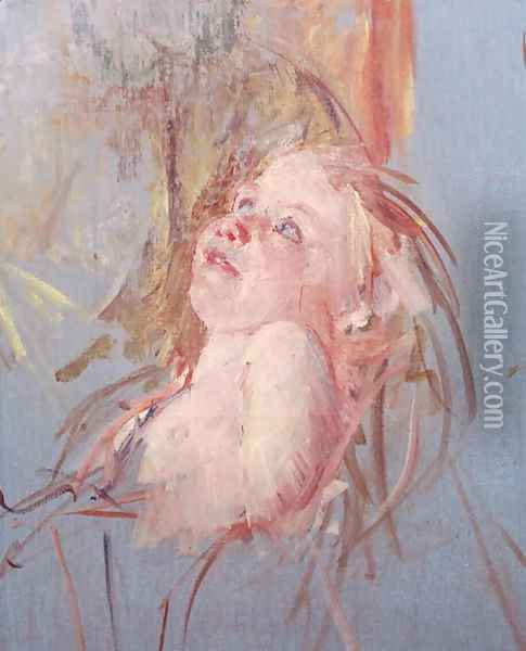 Young Child in its Mother's Arms Oil Painting - Mary Cassatt