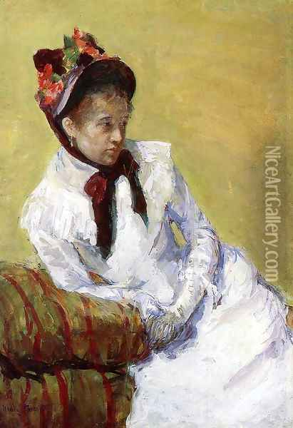 Portrait Of The Artist Oil Painting - Mary Cassatt