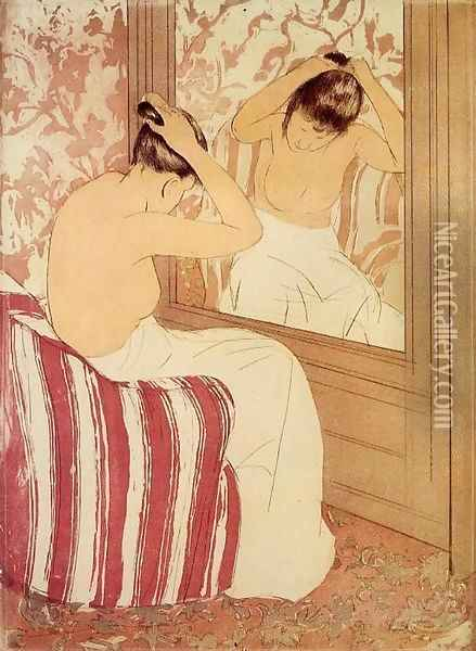 The Coiffure (study) Oil Painting - Mary Cassatt