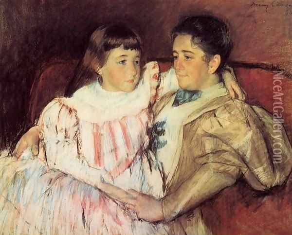 Portrait Of Mrs Havemeyer And Her Daughter Electra Oil Painting - Mary Cassatt