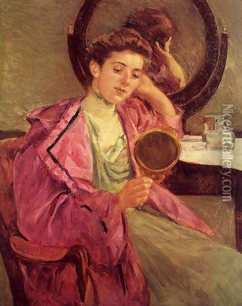 Woman At Her Toilette Oil Painting - Mary Cassatt