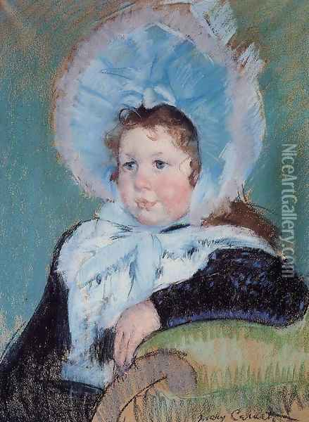 Dorothy In A Very Large Bonnet And A Dark Coat Oil Painting - Mary Cassatt