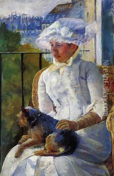 Young Girl At A Window Oil Painting - Mary Cassatt