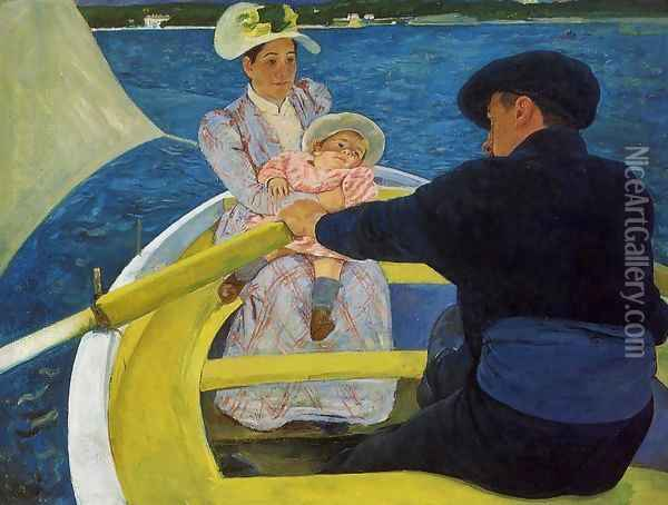 The Boating Party, 1893-94 Oil Painting - Mary Cassatt