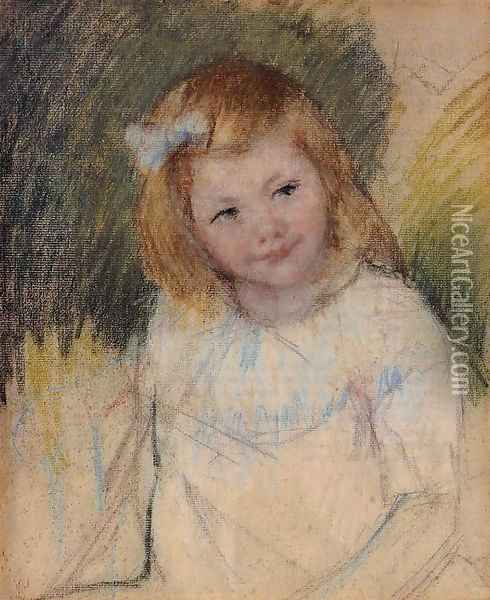 Sara Looking Towards The Right Oil Painting - Mary Cassatt