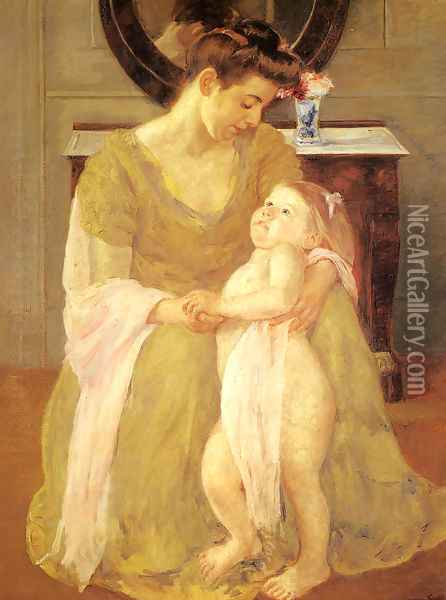 Mother And Child X Oil Painting - Mary Cassatt