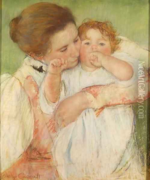 Mother and Child, 1897 Oil Painting - Mary Cassatt