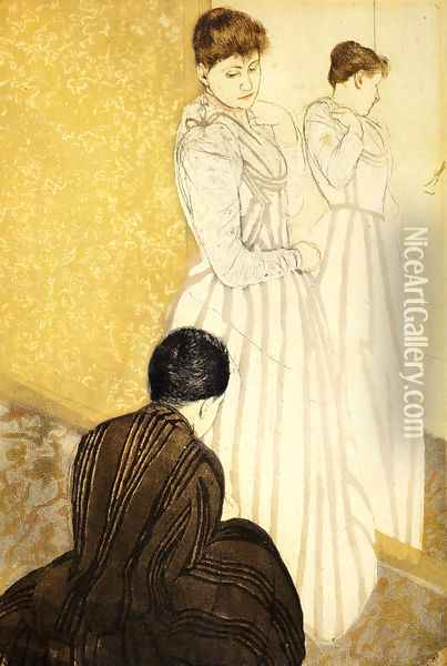 The Fitting Oil Painting - Mary Cassatt