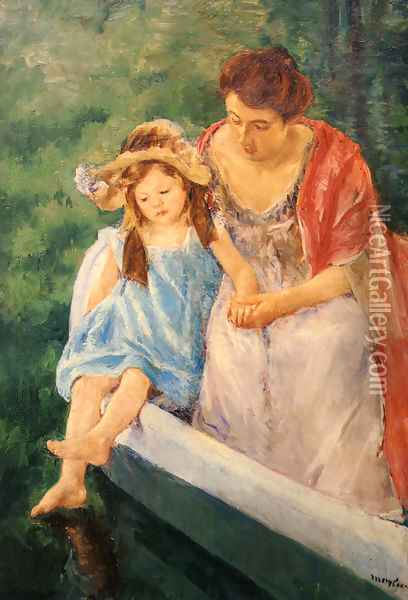 Mother And Child In A Boat Oil Painting - Mary Cassatt