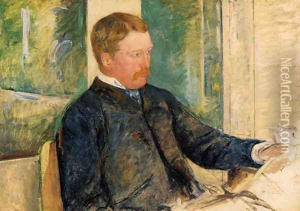 Portrait of Alexander J. Cassatt, c.1880 Oil Painting - Mary Cassatt