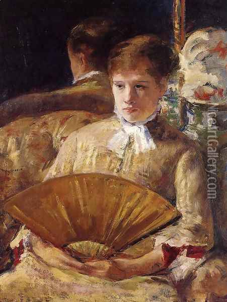 Portrait of a Lady (or Miss Mary Ellison) Oil Painting - Mary Cassatt