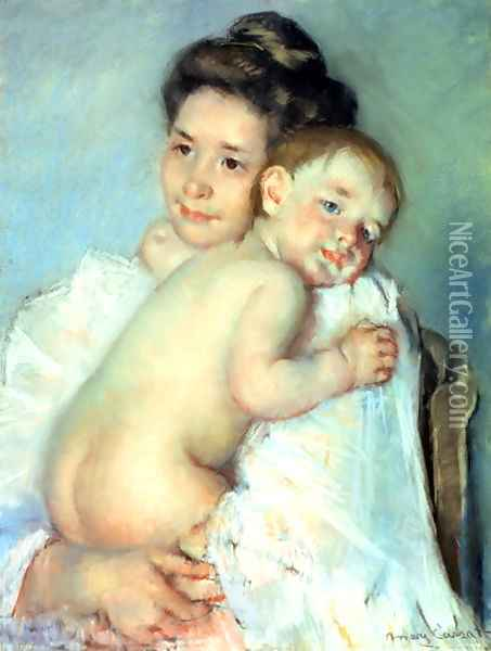 The Young Mother Oil Painting - Mary Cassatt