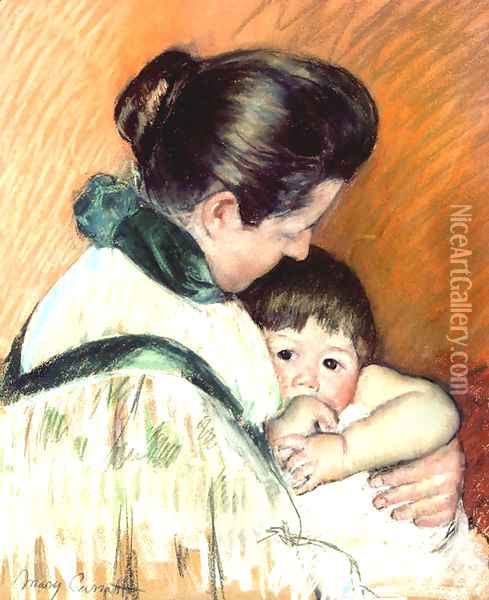 Mother and Child 3 Oil Painting - Mary Cassatt
