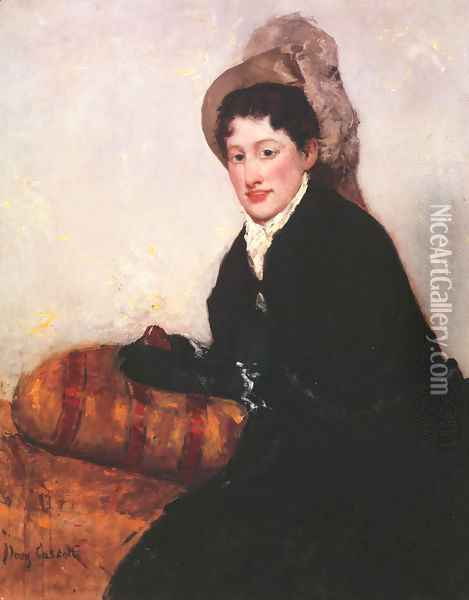 Portrait of a Woman Dressed for Matinee Oil Painting - Mary Cassatt