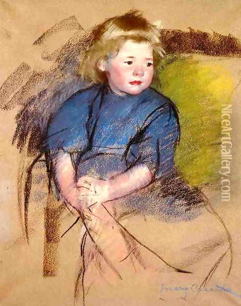 Portrait of a Young Girl (Simone) Oil Painting - Mary Cassatt