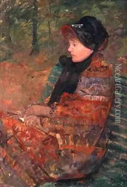 Portrait of Mlle C. Lydia Cassatt, 1880 Oil Painting - Mary Cassatt