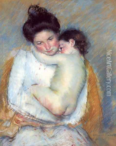 Mother and Child 1900-2 Oil Painting - Mary Cassatt